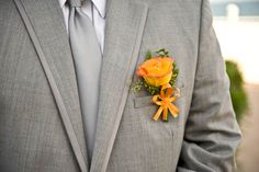 Gray with a pop of orange. Doing color right!