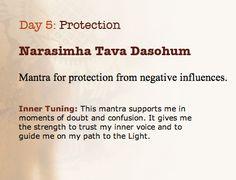 Mantra for Protection Narasimha Tava Dasohum