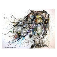 I'm obsessed with this piece of Art. Might be something I need to invest in   #huatunan #abstractart #owl