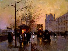 Edouard Leon Cortes (1882-1969) - Paris: Part I #gayparis || Follow link for more