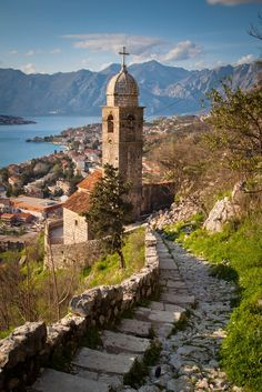 Church of Our Lady of Remedy (1518) Kotor, Montenegro. Located on the slope of St. John Mountain and is the oldest known building in Montenegro.