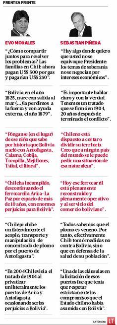 En una dura réplica, Sebastián Piñera respondió punto por punto a su a Evo Morales, quien aprovechó la clausura de la Cumbre Celac para acusar una serie de supuestos incumplimientos al Tratato de 1904 que fijó los límites entre ambos países.