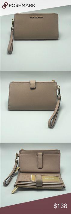 28995361f449 Michael Kors Jet Set Travel Wristlet NWT Michael Kors Jet Set Travel  Leather double zip Phone case/ Wristlet in the color Ballet NWT Michael Kors  Bags ...