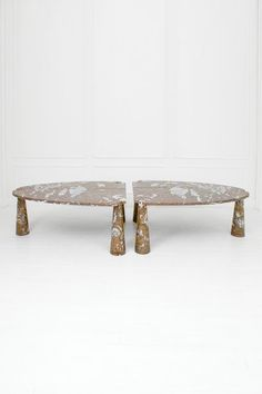 Angelo Mangiarotti; Marble 'Eros' Tables for Skipper, 1972.