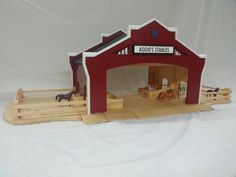 Wooden Toy Barn Personalized