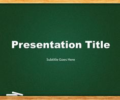 50 best education powerpoint templates education powerpoint green chalkboard powerpoint template is a free template slide design that you toneelgroepblik Gallery