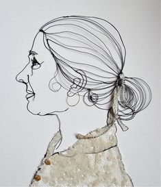 sculptural drawing in metal wire by christina james nielsen, via Behance