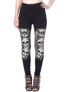"Women's ""No Evil"" Leggings by Jawbreaker (Black)"