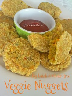 Big Batch Veggie Nuggets (any shapes with cookie cutter possible) Veggie Recipes, Fish Recipes, Baby Food Recipes, Whole Food Recipes, Cooking Recipes, Toddler Meals, Kids Meals, Toddler Food, Vegetarian Kids