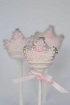 Pink Crown Cake Pop by EntirelySweet on Etsy, $39.00
