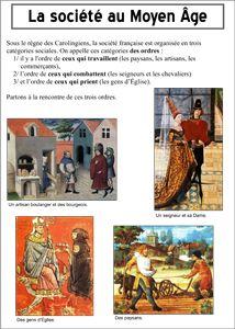 La société médiévale - les trois ordres