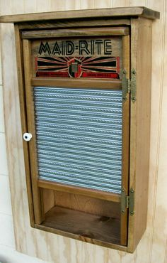 Primitive Washboard Wall Cabinet by CountryFurniture on Etsy