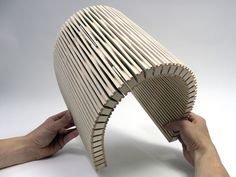 Dukta is a new way to make wood flexible.