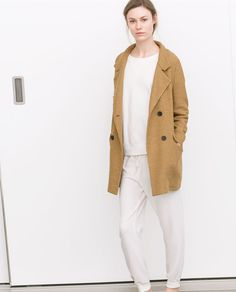 Image 1 of DOUBLE BREASTED COAT from Zara