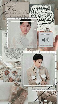 ♡ Exo Do Kyungsoo D.o aesthetic wallpaper Kyungsoo, Kaisoo, Exo Chanyeol, Aesthetic Pastel Wallpaper, Aesthetic Wallpapers, Exo Lockscreen, Do Kyung Soo, Exo Memes, Kpop Exo