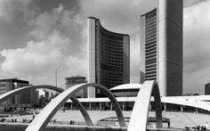 Toronto City Hall - In 1958, Finnish Architect Viljo Revell won the international competition for the design of the Toronto City Hall. John B. Parkin Associates (now NORR Limited Architects Engineers Planners) was selected as the Canadian joint venture partner.
