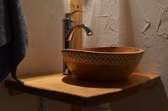 Drewniana umywalka drewniany zlew z drewna