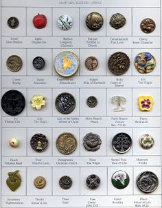 Pegs Button Blog: Religious Symbols..Plant life buttons