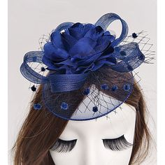 FOOTBALL fascinator clip red white and blue for  special event England