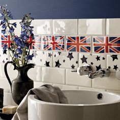 Stars and Union Jack wall tiles from Emma Bridgewater for Fired Earth