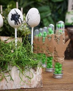 Looking to plan a party for the dinosaur lover in your life? Check out this DINO-Mite birthday bash for tons of inspiration. Dinosaur Cake Pops, Dinosaur Birthday Cakes, Birthday Party At Park, Birthday Party Themes, 5th Birthday, Birthday Ideas, Festa Jurassic Park, Dinosaur Party Invitations, Safari Theme Party