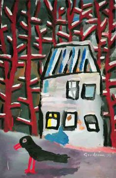 Gary Goodman, Goethe's Garden House, acrylic on paper, 14.5 x 9.75 in.  $240 | free shipping (USA only)