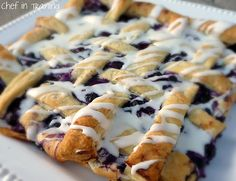Blueberry Danish Puff - try with blueberry pie filling next time so won't get so soggy