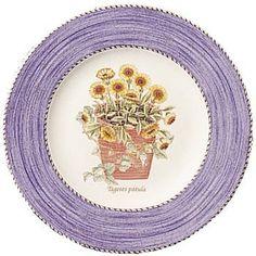 Wedgwood Sarah's Garden Fine Earthenware Blue Salad Plates, Set of 4 Sarah's Garden, Dining Plates, Butterfly Design, Wedgwood, Dinner Table, Earthenware, Design Set, Salad Plates, Cupboard