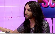 Conchita Wurst Talks Eurovision, Guy Sebastian & Make-Up! Here Lyrics, Guy Sebastian, French Maid Dress, Singing, Bring It On, Make Up, Angel, Guys, Shells