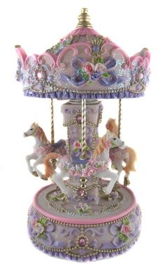 "Collectible Music Boxes | Details about Collectable Large 9"" Horse Musical Carousel Music Box ..."
