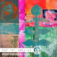 31 days of printmaking unleashed day collage: show us a collage.of paintings, of of photos, pieces of paper, magazine clippings or stitched This collage was created with plexiglas monoprints and acrylic skins, cut into shapes a Kunstjournal Inspiration, Art Journal Inspiration, Mixed Media Collage, Collage Art, Diy Canvas, Photomontage, Teaching Art, Botanical Art, Medium Art