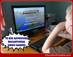 10 Kid Approved Educational Video Games - games that are fun and educational #educationpossible