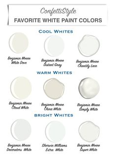 Design Guide My Favorite White Paint Colors