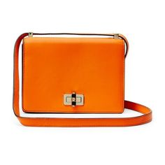 Diane von Furstenberg 440 Gallery Les Leather Crossbody Bag (428.865 COP) ❤ liked on Polyvore featuring bags, handbags, shoulder bags, purses, fire orange, leather shoulder bag, shoulder handbags, leather man bags, man bag and leather crossbody purses