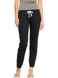Old Navy: Women's Cinched-Drawstring Sweatpants $17 -- perfect for dog walking or just lounging around