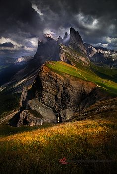 ~~Odle and the Storm ~ Dolomites Mountain Range, Italy by Fra Trevi~~