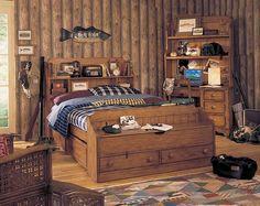 Foto de habitacion de niño adolescente con motivos de pesca