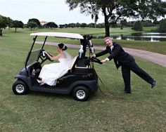 Having fun on the golf course