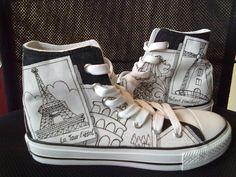 custom canvas high top shoes