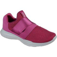 Skechers Women's Skechers Gorun Mojo - Mania Pink - Skechers... ($65) ❤ liked on Polyvore featuring shoes, sneakers, pink, breathable shoes, skechers sneakers, skechers footwear, pink sneakers and breathable sneakers