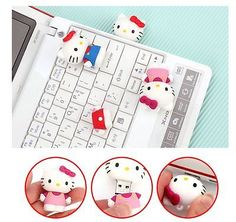 Hello Kitty USB Flash Drives 16GB Red Blue Pink Made in Korea Red And Blue, Usb Flash Drive, Hello Kitty, Korea, Holiday Decor, Pink, How To Make, Ebay, Pink Hair