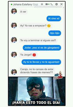 Se parece ha alguien que conozco Funny Spanish Memes, Spanish Humor, Avengers Memes, Marvel Memes, Geek Meme, Silly Sentences, Text Memes, Pinterest Memes, Whatsapp Messenger