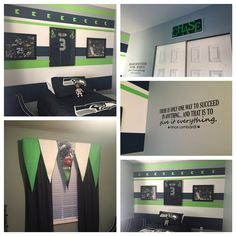 Boys sports Seahawks bedroom