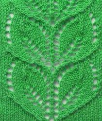 Leaves Knitting Stitch Pattern