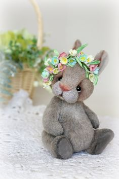 Baby rabbit by Furry Happiness on Tedsby Crochet Bunny, Cute Crochet, Crochet Toys, Toddler Gifts, Gifts For Kids, Art All The Way, Bunny And Bear, Teddy Toys, Cute Teddy Bears