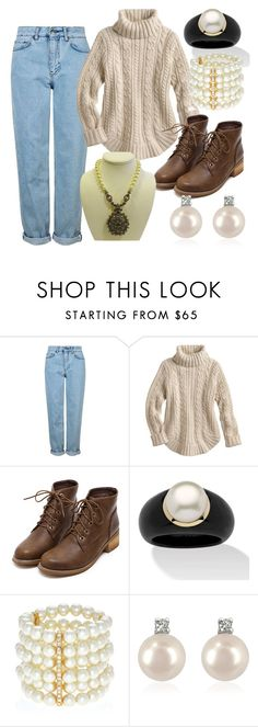 """Untitled #6700"" by bj837101 ❤ liked on Polyvore featuring Topshop, Palm Beach Jewelry, Kenneth Jay Lane, Forzieri and Heidi Daus"