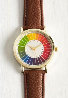 Reinventing the Color Wheel Watch. Give your look an instant update by adding this multicolor watch to your ensemble! #multi #modcloth