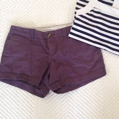 Purple mini shorts Lightly faded color and worn around the edges of the waist. Old Navy Shorts