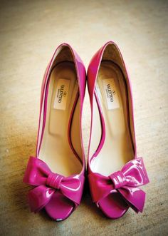 Pink Valentino wedding shoes
