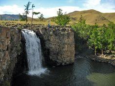 Orkhon waterfall, Eastern Mongolia.